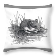 Deer Mouse Throw Pillow