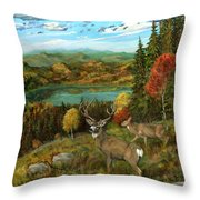 Deer Season Throw Pillow