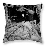 Deer Silhouette Throw Pillow