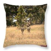 Deer Tails Throw Pillow