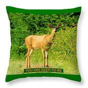 Deer To Me Throw Pillow
