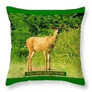 Deer To Me Throw Pillow