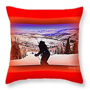 Deer Valley Utah Powder Throw Pillow