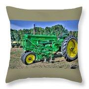Deere Old Tractor Throw Pillow