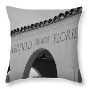 Deerfield Beach Florida Throw Pillow