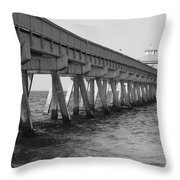 Deerfield Beach Pier Throw Pillow