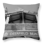 Deerfield Beach Throw Pillow