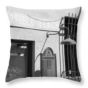 Deerfield Beach Train Station Throw Pillow