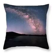 Deerfield Lake Milky Way Throw Pillow