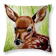 Deerly Beloved Throw Pillow