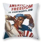Defend American Freedom Throw Pillow