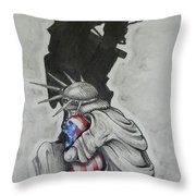 Defending Liberty Throw Pillow