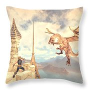 Defending The Castle Throw Pillow