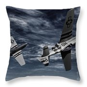 Defensive Split  Throw Pillow