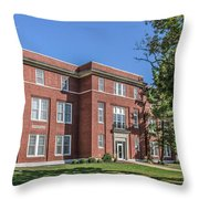 Defiance College Tenzer Hall Throw Pillow
