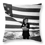 Defiant Girl Desert Storm Troops Welcome Home Celebration Ft. Lowell Tucson Arizona 1991 Throw Pillow