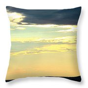 Defined Horizon Throw Pillow