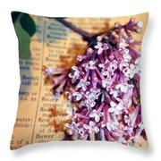 Defining Lilacs Throw Pillow