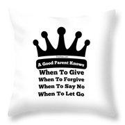 Definition Of A Good Parent Throw Pillow
