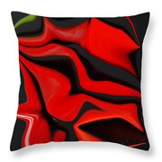 Deformed Peppers Throw Pillow
