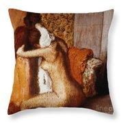 Degas: After The Bath Throw Pillow