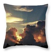 Degas Clouds #2 On Florida Sky Throw Pillow