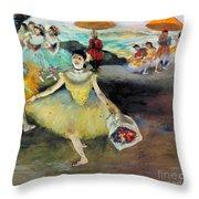 Degas: Dancer, 1878 Throw Pillow