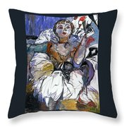 Degas Girl Throw Pillow
