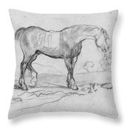 Degas, Horse.  Throw Pillow