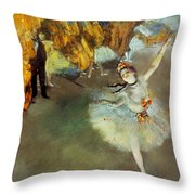 Degas Star, 1876-77. To License For Professional Use Visit Granger.com Throw Pillow