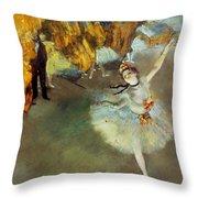 Degas: Star, 1876-77 Throw Pillow