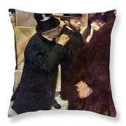 Degas: Stock Exchange Throw Pillow