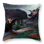 Degouve: Angels, 1894 Throw Pillow
