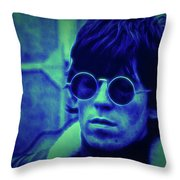 Deja Blue Rolling Stones Bill Wyman Throw Pillow