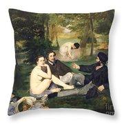 Dejeuner Sur L Herbe Throw Pillow by Edouard Manet