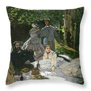 Dejeuner Sur Lherbe Throw Pillow