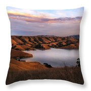 Del Valle At Sunset Throw Pillow