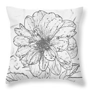 Lush Blossom Throw Pillow