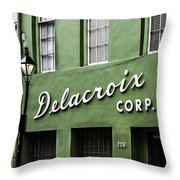 Delacroix Corp., New Orleans, Louisiana Throw Pillow
