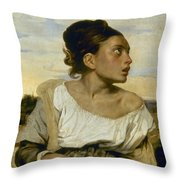 Delacroix: Orphan, 1824 Throw Pillow