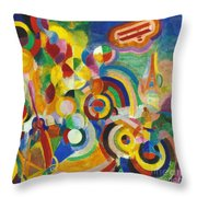 Delaunay: Hommage Bleriot Throw Pillow