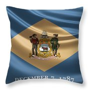 Delaware State Flag Throw Pillow