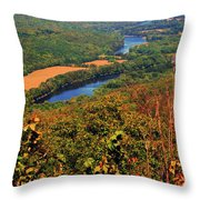 Delaware River From The Appalachian Trail Throw Pillow