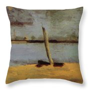 Delaware Riverscape From Gloucester Throw Pillow