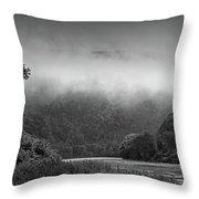 Delaware Water Gap Clouds Set In Throw Pillow