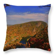 Delaware Water Gap In The Fall Throw Pillow
