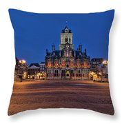 Delft Blue Throw Pillow
