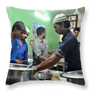 Delhi Dhaba Restaurant Throw Pillow