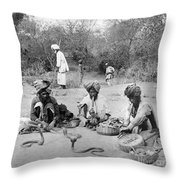 Delhi: Snake Charmers Throw Pillow