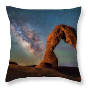 Delicate Air Glow Throw Pillow